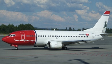 Norwegian Air Shuttle website